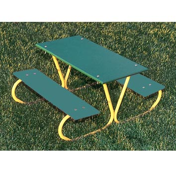 p357-g-46-preschool-picnic-table-green-planks-yellow-frame