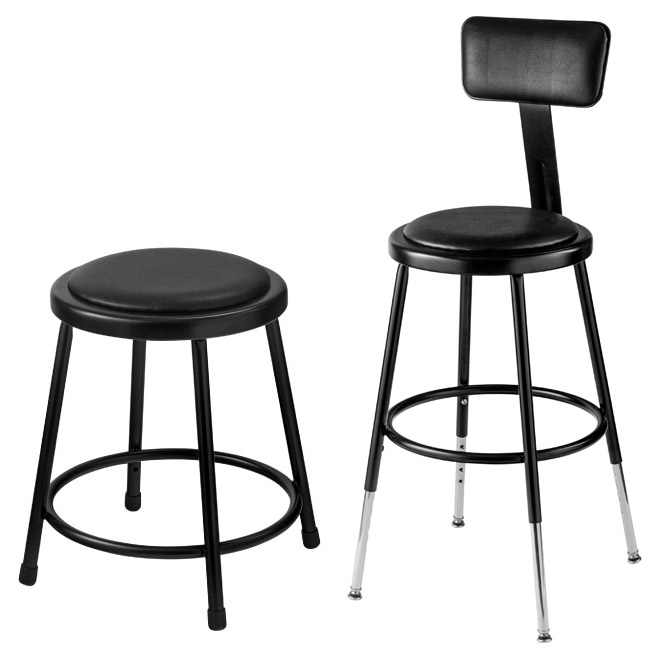 black-padded-science-lab-stools-by-national-public-  sc 1 st  Worthington Direct & All Black Padded Science Lab Stools By National Public Seating ... islam-shia.org