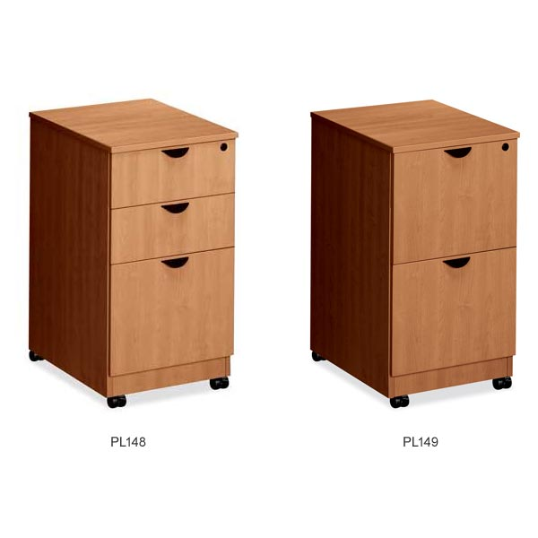 PL Series Mobile Pedestal File Cabinets By NDI Office Furniture