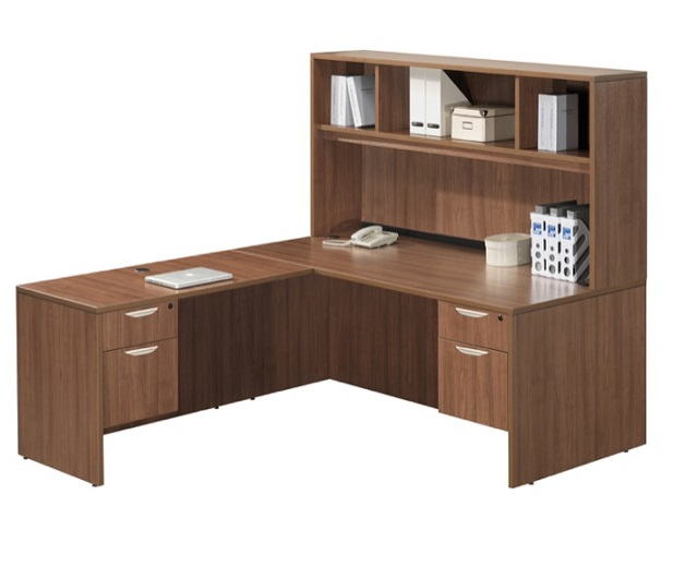 shaped office with products used osf ofw hutch pittsburgh source l desk