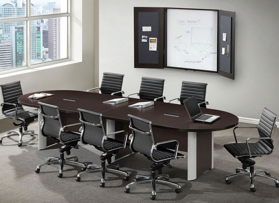 Ndi Office Furniture Racetrack Conference Table W Elliptical Base - Elliptical conference table