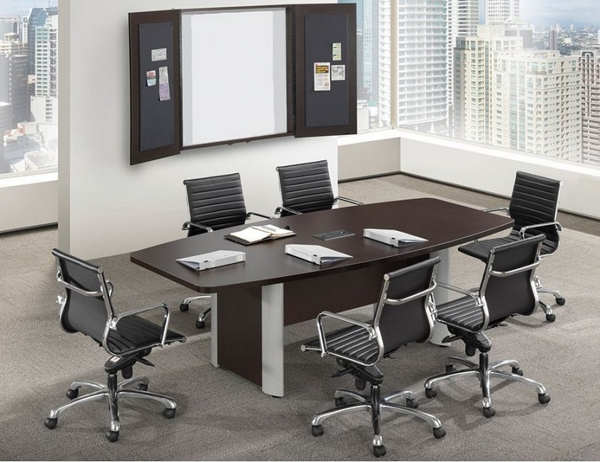 Pl10be Boat Shape Conference Table W Elliptical Base