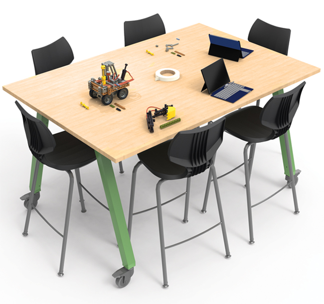 Planner Studio Tables with Flavors Stools from Smith System