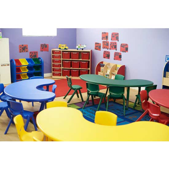 """ecr4kids five 14"""" plastic resin chairs with one plastic resin"""