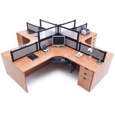 Four Person Workcenter Suite