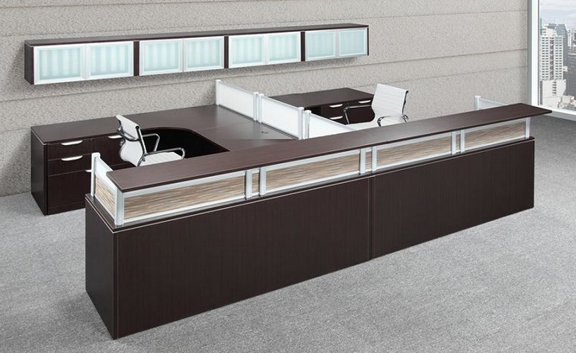Reception Desk Suite with Storage by NDI Office Furniture