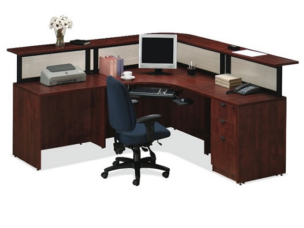 Ndi Office Furniture Borders Reception Desk Plb15 Reception Stations Worthington Direct