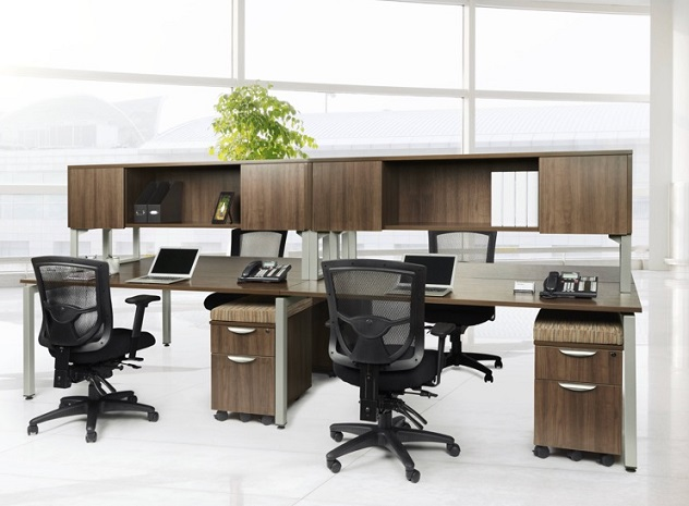 Ndi Office Furniture Elements Four Person Workstation Suite Plt17 Office Suites