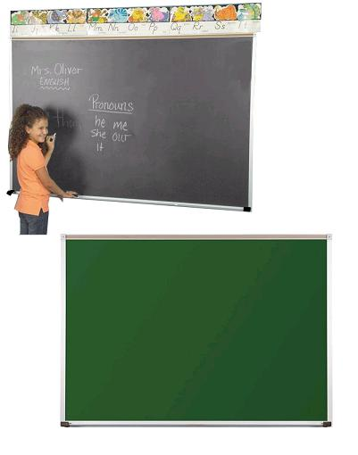 104ac-3x4-aluminum-frame-green-porcelain-steel-chalkboard-with-1-map-rail