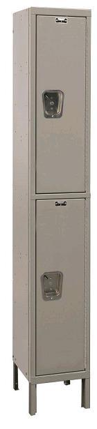 uy1288-2-maintenance-free-quiet-double-tier-1-wide-locker-unassembled-12-w-x-18-d-x-36-h