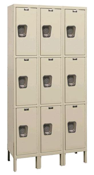 maintenance-free-quiet-triple-tier-3-wide-lockers-by-hallowell