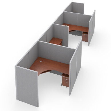 r1x46372v-rize-series-cubicle-1x4-configuration-w-full-vinyl-63-h-panel-6-w-desk