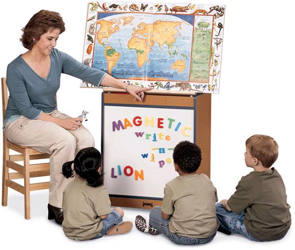 0543jcmgww-rainbow-accents-big-book-easel-magnetic-write-n-wipe