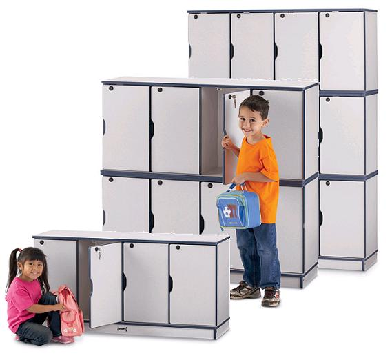 Rainbow Accents Stackable Locker by Jonti-Craft