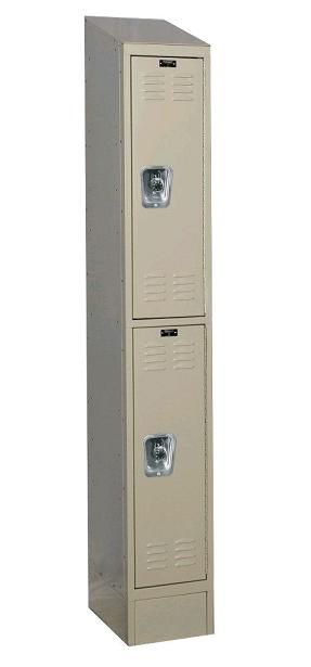 urb1288-2asb-readybuilt2-double-tier-1-wide-lockers-w-slope-top---locks--12-w-x-18-d-x-36-h