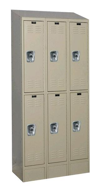 urb3228-2asb-readybuilt2-double-tier-3-wide-lockers-w-slope-top---locks--12-w-x-12-d-x-36-h