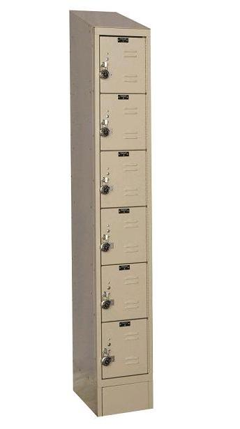 readybuilt2-six-tier-1-wide-lockers-w-slope-top---locks-by-hallowell