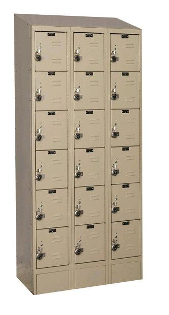 urb3288-6asb-readybuilt2-six-tier-3-wide-lockers-w-slope-top---locks--12-w-x-18-d-x-12-h