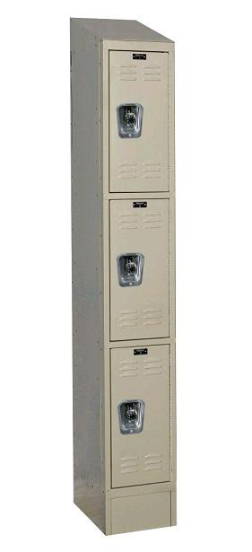urb1288-3asb-readybuilt2-triple-tier-1-wide-lockers-w-slope-top---locks--12-w-x-18-d-x-24-h