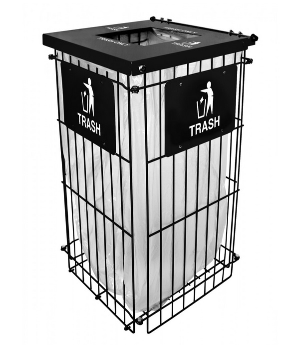 Ex cell kaiser clean grid fully collapsible trash receptacle rgu 1836t trash cans - Collapsible trash bins ...