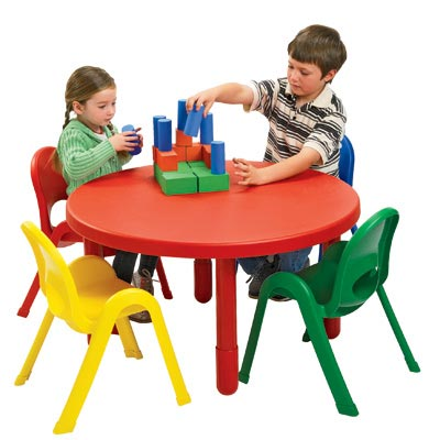 Angeles Myvalue Preschool Table And Chairs Set 36 Quot Round