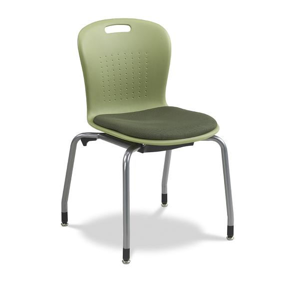 "Virco Sage Contract Stack Chair W Padded Seat 18 1 2"" H"