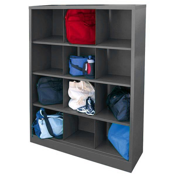 metal storage cubby sandusky metal cubby shelf with 12 storage cubes 23290