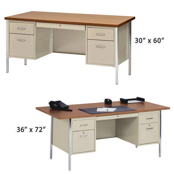double-pedestal-desk-sandusky-lee