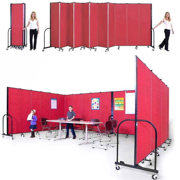 Freestanding Portable Partition by Screenflex