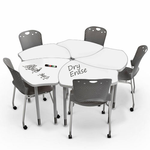 Collaborative Student Desks ~ All shapes desk w white dry erase top by balt options