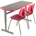 Silhouette Double Student Desk by Smith System