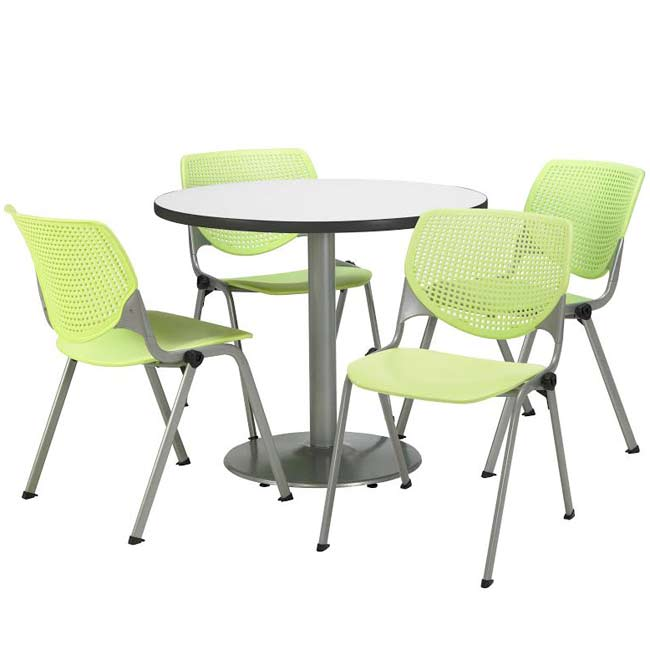 silver-base-cafe-table-with-four-kool-stack-chairs-by-kfi