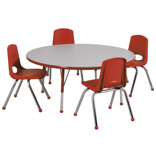 Attractive Round Table With Chairs Part - 1: Preschool-round-activity-table-chair-packages-by-ecr4kids