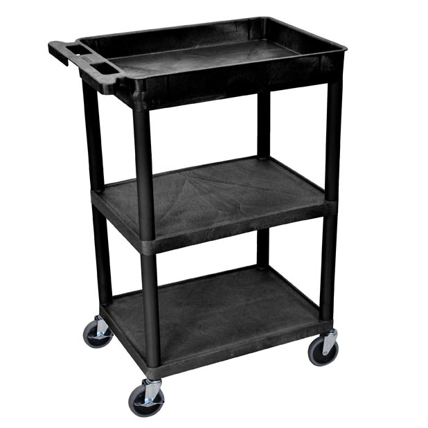 stc-122-heavy-duty-utility-cart-w-top-tub-shelf