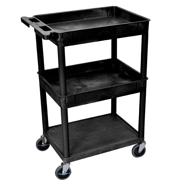 stc112-heavy-duty-utility-cart-w-2-tub-shelves-flat-bottom-shelf