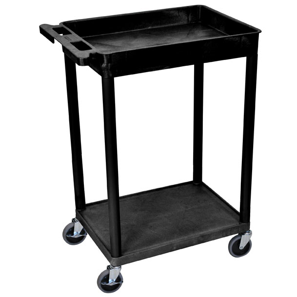 stc12-heavy-duty-utility-cart-w-tub-shelf-and-flat-shelf