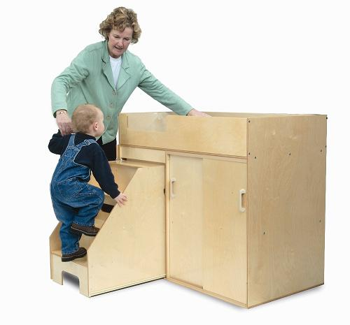 Whitney Brothers Step Up Toddler Changing Table Wb0648