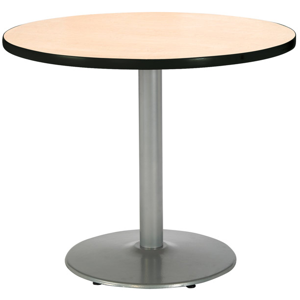 all round cafe tables w round silver base by kfi options tables worthington direct. Black Bedroom Furniture Sets. Home Design Ideas