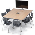 Interchange Half Boat Multimedia Table by Smith System