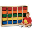 Click here for more E-Z Glide 25 Tray Mobile Cubbie Rack by Jonti-Craft by Worthington