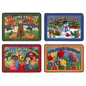 Welcome Friends Seasonal Mat Set by Joy Carpets