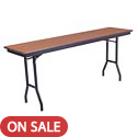 Rectangular Particle Board Folding Tables by Amtab
