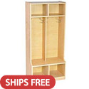 Birch 2-Section Coat Locker by ECR4Kids