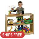 Click here for more Birch 2 Shelf Cabinets by ECR4Kids by Worthington