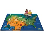 U.S.A. Learn & Play Carpet by Carpets for Kids