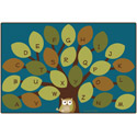 Nature's Colors Owl-phabet Tree Rug by Carpets for Kids