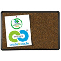 Black Splash-Cork Bulletin Board w/ Presidential Trim by Best-Rite