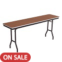 Stained Plywood Top Folding Seminar Tables by Amtab