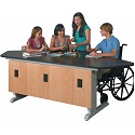 ADA Workstation w/ EZ-Lift Height Adjustment by Diversified Woodcrafts