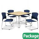 Breakroom Table & Four 310-P Chairs by OFM